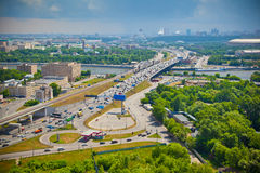 Moscow River. Moscow - city landscape, the Third Ring Road Royalty Free Stock Photos