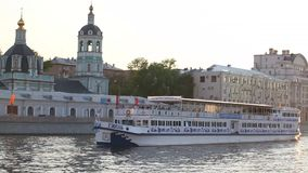 Moscow. River Moscow stock footage