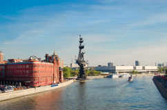 The Moscow River in Moscow Royalty Free Stock Images
