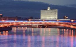 Moscow river at night Stock Photo