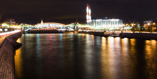 Moscow river Royalty Free Stock Photo