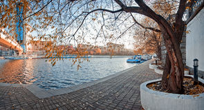 Moscow-river shore Stock Photography