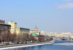 Moscow River in the spring Royalty Free Stock Images