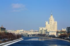 Moscow River in the spring Stock Images