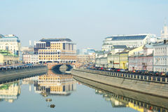 The Moscow River in spring. Royalty Free Stock Photography