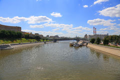 Moscow River. The Moscow river. Tourist steamers in the capital of Russia Royalty Free Stock Photography
