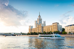 Moscow river trip Royalty Free Stock Photo
