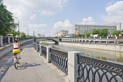 Moscow river view Royalty Free Stock Images