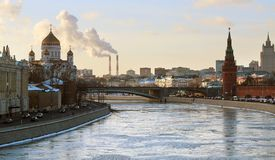 Moscow River Royalty Free Stock Images