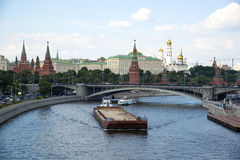 Moscow River. View of the Kremlin. Stock Image