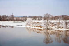 Moscow riverbank Kolomna Stock Photos