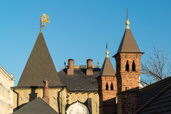 Moscow, roof Romanov Chambers in Varvarka street, Russia. Sight Royalty Free Stock Photos