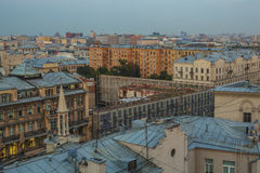 Moscow roofs evening view. City center roofs evening view panorama - Moscow, Russia Royalty Free Stock Image