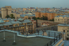 Moscow roofs evening view. City center roofs evening view panorama - Moscow, Russia Stock Image