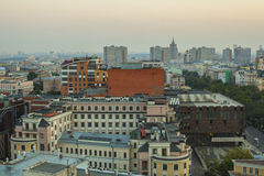 Moscow roofs evening view. City center roofs evening view panorama - Moscow, Russia Stock Photography