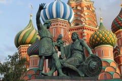 moscow Rosji minin plac czerwony pomnikowy pozharsky Fotografia Stock