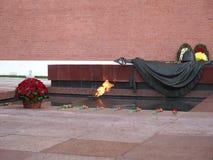 moscow Rosji Widok płomień Wiecznie płomień przy grobowem Niewiadomy żołnierz zbiory wideo