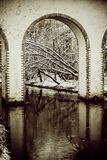 Moscow. Rostokinsky aqueduct. Arch. Over the river Yauza Royalty Free Stock Images