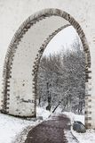 Moscow. Rostokinsky aqueduct. Arch over the river Yauza Royalty Free Stock Photos