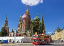 Moscow, Russia – August 14, 2018: St. Basil`s Cathedral on the royalty free stock photo