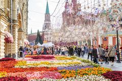 Free Moscow, Russia, 08/06/2019: Beautiful Summer Decoration Of The Red Square Stock Photos - 155381653