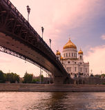 Moscow, Russia. Christ the Savior Cathedral - the main cathedral of the Russian Orthodox Church in Moscow Royalty Free Stock Image