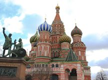 Moscow Russia. View of St.Basil cathedral at Red Square in Moscow Stock Photography