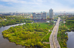 Moscow, Russia - aerial view Royalty Free Stock Photo