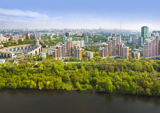 Moscow, Russia - aerial view Stock Photography