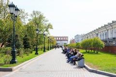 MOSCOW, RUSSIA - Alexander Garden Stock Image