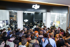 MOSCOW RUSSIA:01 APR 2017 - DJI Quadcopter Drone store opening c Stock Photography