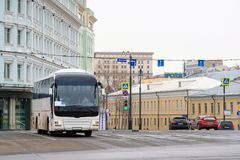Bus station in the center of Moscow Royalty Free Stock Image