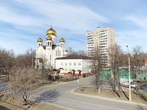 Moscow, Russia, April, 05,2019.Church of the introduction to the temple of the blessed virgin in Veshnyaki Church of the introduc. Moscow, Russia. Church of the royalty free stock images