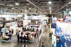 Moscow Russia April 17 exhibition photos & video equipment Stock Photo