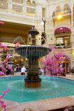 MOSCOW, RUSSIA- APRIL, 24, 2018: Fountain inside the main store in Moscow on the Red Square.  Royalty Free Stock Photo