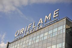 Headquarter of Oriflame company. MOSCOW, RUSSIA - APRIL 30: Headquarter of Oriflame company in Moscow on April 30, 2018 Stock Photography
