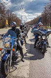 Moscow, Russia - April 23, 2016: Motorcyclists open the spring s Stock Photo