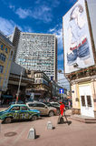 Vintage car on Old Arbat street in Moscow Royalty Free Stock Photography