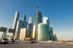 "Panorama of the Moscow International Business Centre MIBC, also known as ""Moscow City`. Royalty Free Stock Images"