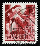 Hungarian stamp shows Saint Margaret of Hungary, circa 1944 Stock Photography
