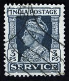 Indian postage stamp shows portrait of George VI 1895 -1952, circa 1942 Stock Photos
