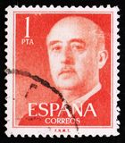Portrait of Francisco Franco, circa 1955 Royalty Free Stock Photos