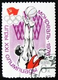 Basketball, Olympic games in Montreal, Canada, circa 1976 Royalty Free Stock Photos