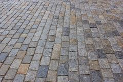 The texture of paving stones stock images