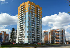 Moscow, Russia-April 24.2016. Residential Complex Green Forest in Zelenograd Royalty Free Stock Photography