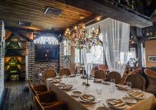 Restaurant interior shot Royalty Free Stock Images