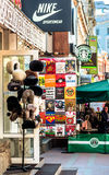 Russian souvenirs store on Old Arbat - very popular tourist plac Royalty Free Stock Image