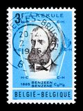 Kekule, Professor Friedrich August, serie, circa 1966. MOSCOW, RUSSIA - APRIL 15, 2018: A stamp printed in Belgium shows Kekule, Professor Friedrich August Stock Photos