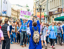 Youth having fun on Old Arbat Stock Image