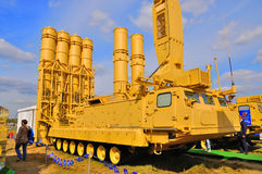 MOSCOW, RUSSIA - AUG 2015: anti-ballistic missile system S-300VM Royalty Free Stock Photos